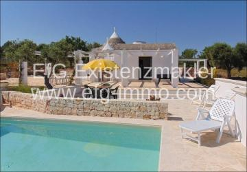 Ceglie Messapica Trulli pool and olive trees / EfG 1527-IDD, 72013 Ceglie Messapica, Italy