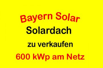 Solar roof 600 kWp on the grid yield 8.5% / EfG 11618-S, 95138 Bad Steben, Germany